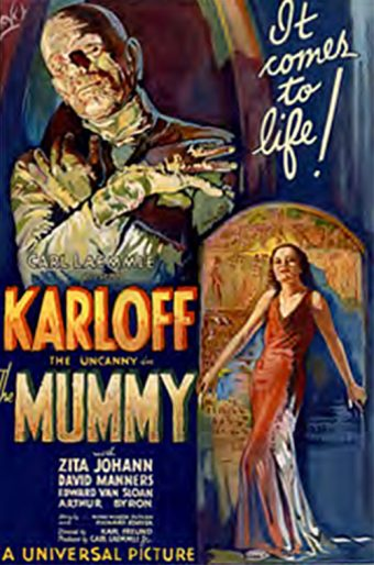 Boris Karloff as The Mummy 24 x 36 Inch Movie Poster