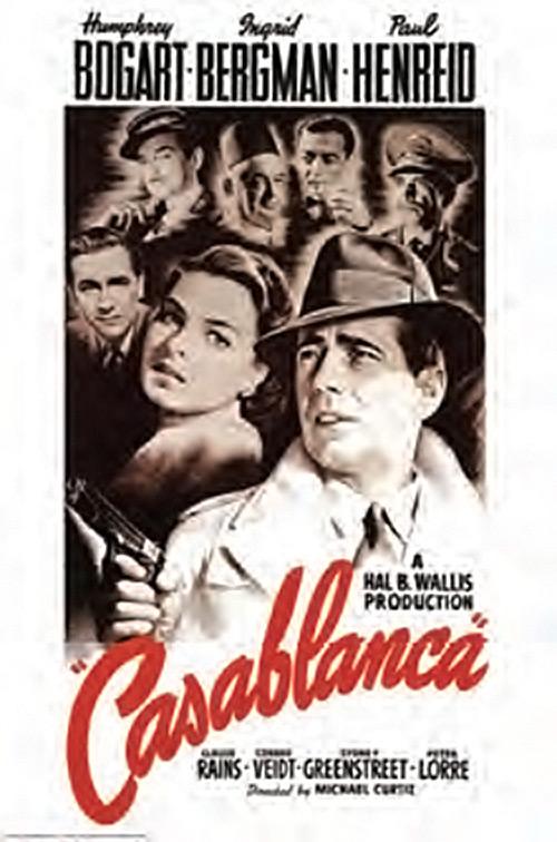 Casablanca One Sheet 24 x 36 Inch Movie Poster