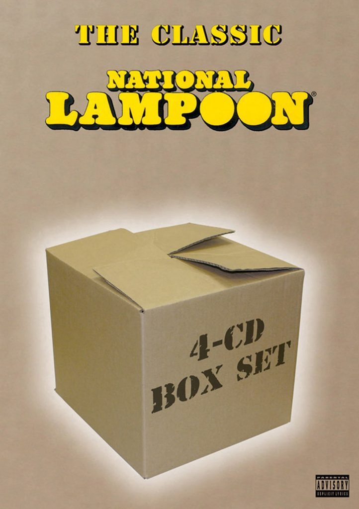 The Classic National Lampoon 4-CD Comedy Box Set including routines by Bill Murray, John Belushi, Gilda Radner, Chevy Chase, Richard Belzer + many more