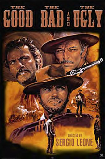 The Good, the Bad and the Ugly 24 x 36 Inch Movie Poster