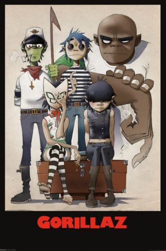 Gorillaz Art Family Portrait 24 x 36 inch Music Poster