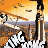King Kong – Biplanes Attack in Orange Sky 24 x 36 Inch Movie Poster