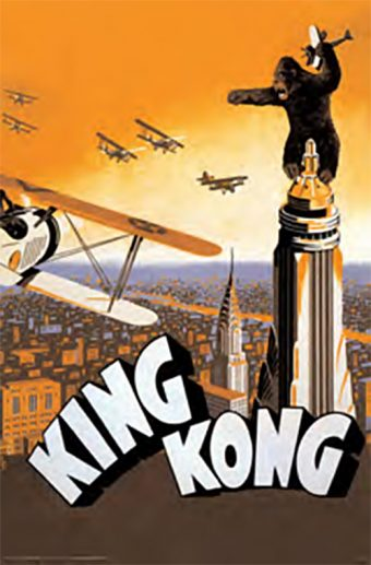 King Kong – Biplanes Attack in Orange Sky 24 x 36 Inch Movie Poster