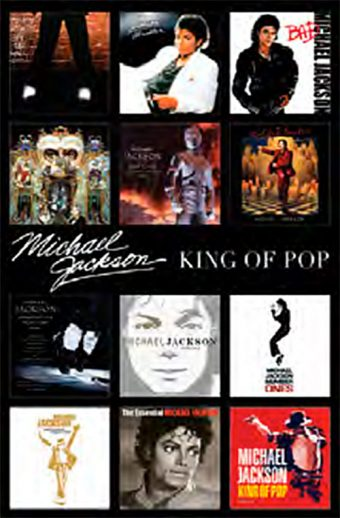Michael Jackson Album Covers 24 x 36 inch Music Poster