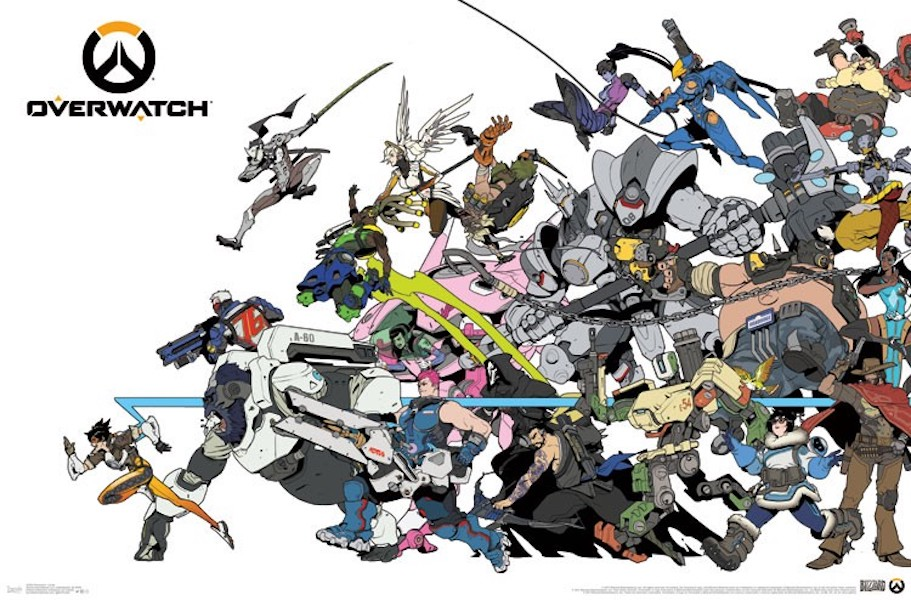 Overwatch 34 X 22 inch Video Game Poster