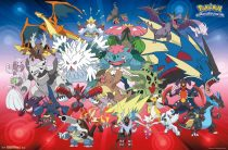 Pokemon Crew Mega Evolution 34 X 22 inch Poster