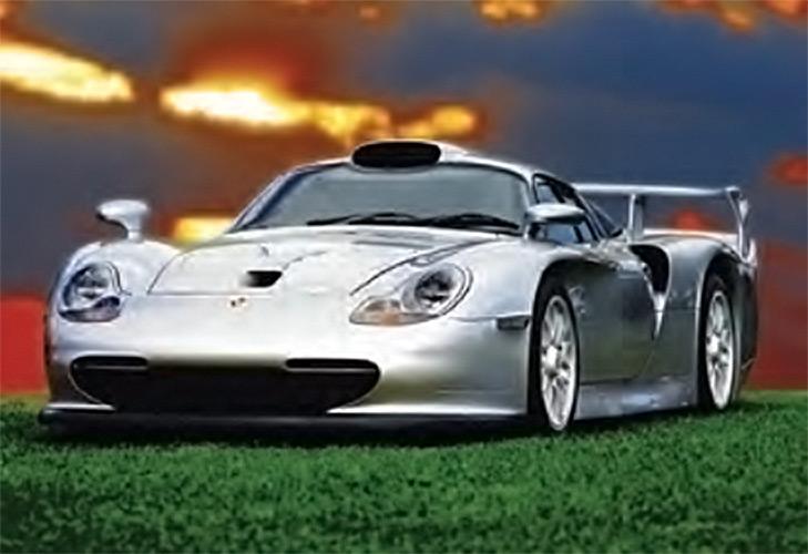 Quicksilver Silver Ferrari 36 x 24 inch Auto Poster