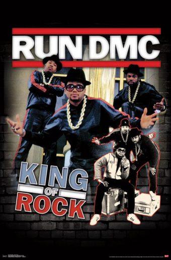 Run DMC King of Rock 23 x 35 inch Music Poster