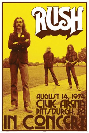 Rush in Concert – Civic Arena Pittsburgh, PA 24 x 36 inch Music Concert Poster