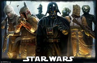 Star Wars Darth Vader with Bounty Hunters Group Collage 36 x 24 Inch Movie Poster