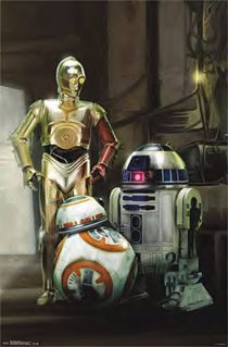 Star Wars Droids Group Shot 23 x 35 Inch Movie Poster