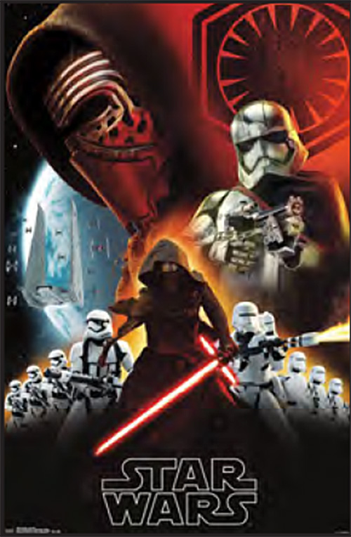 Star Wars: Episode VII – The Force Awakens Darkside Characters Collage 23 x 35 Inch Movie Poster