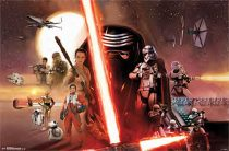 Star Wars Kylo Ren Light Saber Battle Stance 35 x 23 Inch Movie Poster