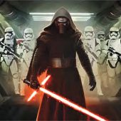 Star Wars: The Force Awakens Kylo Ren with Storm Troopers Oppression 35 x 23 Inch Movie Poster
