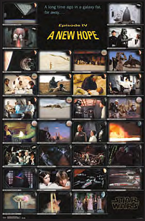 Star Wars Episode Iv A New Hope Film Cels 24 X 36 Inch Movie Poster Filmfetish Com Film Fetish And The Crush Collectibles Shop