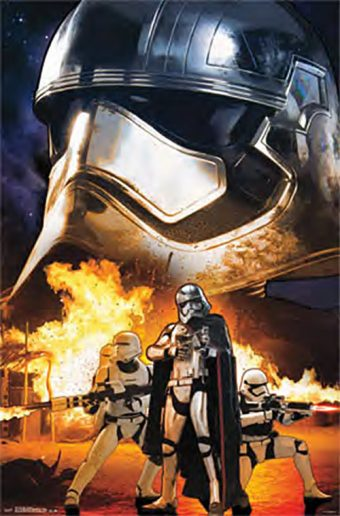 Star Wars Storm Trooper Phasma Collage 23 x 35 Inch Movie Poster