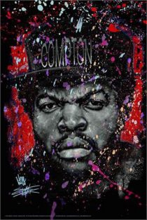 Ice Cube Portrait Straight Outta Compton 24 x 36 inch Music Poster