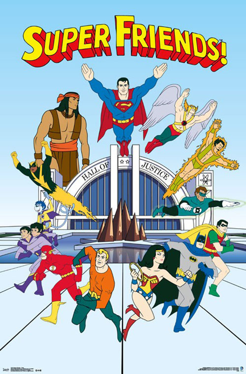 Super Friends Team 22 x 34 inch TV Series Poster