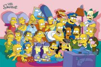 The Simpsons Cartoon Universe Group Shot 36 x 24 Inch Poster