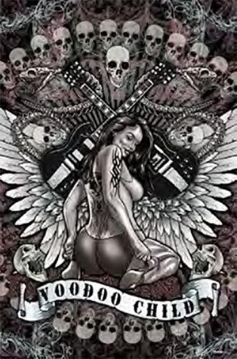 Voodoo Child 24 x 36 inch Music Poster