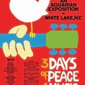 Woodstock – 3 Days of Peace and Music 24 x 36 inch Red Event Poster