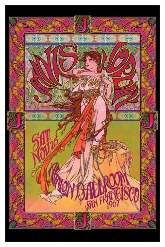 Janis Joplin at Avalon Ballroom, San Francisco 1967 Bob Masse 24 x 36 inch Rock Music Concert Poster