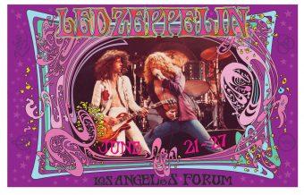 Led Zeppelin at Los Angeles Forum Bob Masse 23.5 x 15 inch Rock Music Concert Poster