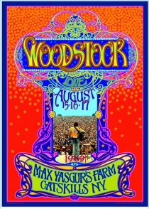 Woodstock Music Festival at Max Yasgur's Farm in Catskills, New York 1969 Bob Masse 18 x 24 inch Rock Concert Poster