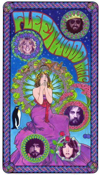 Fleetwood Mac Bob Masse 14 x 24 inch Rock Music Fan Club Concert Poster