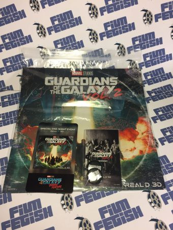 Guardians of the Galaxy Vol. 2 Real D 3D Double Feature Theatrical Marathon Exclusive Poster + Memorabilia Set (2017)