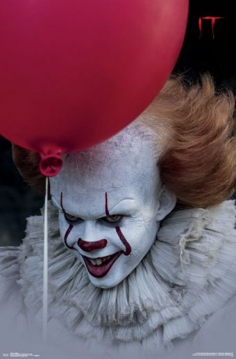 It – Pennywise Portrait with Red Balloon 22 X 34 inch Movie Poster