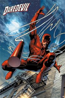 Daredevil with Billy Club 24 x 36 inch Comics Poster
