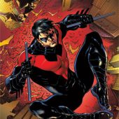 Nightwing Leap 22 x 34 inch Comics Poster