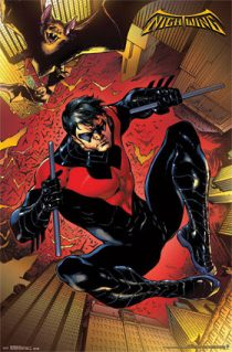 Nightwing Leap 24 x 36 inch Comics Poster