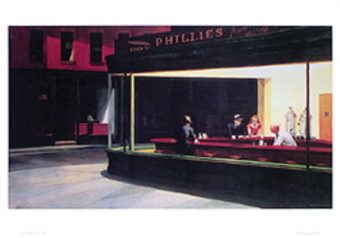 Edward Hopper's Nighthawks 36 x 24 inch Art Poster