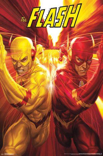 DC Comics The Flash Racing 23 x 35 inch Poster