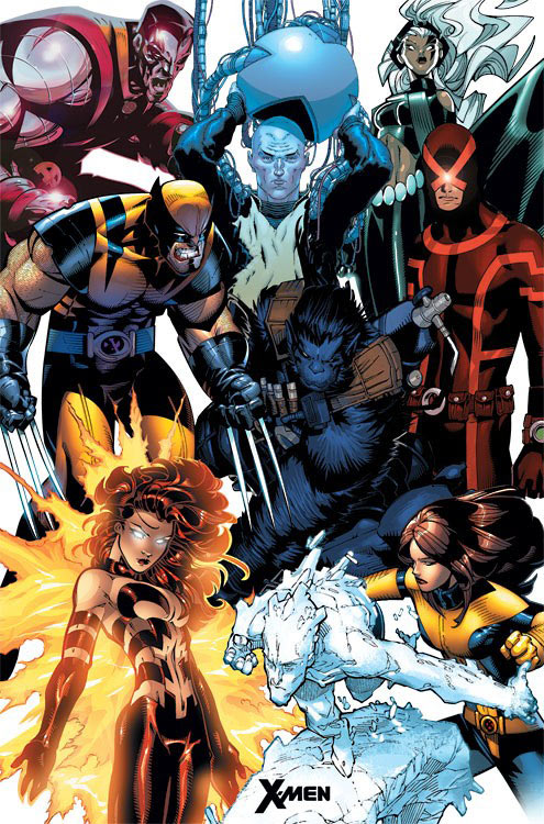 Marvel Comics X-Men Character Collage 23 x 35 inch Poster