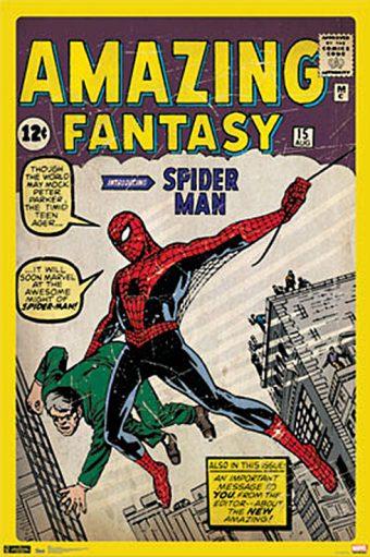 Marvel Spider-Man Amazing Fantasy 24 x 36 inch Comics Poster