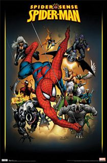 Spider-Man Spider Sense Adversaries Collage 23 x 35 inch Comics Poster