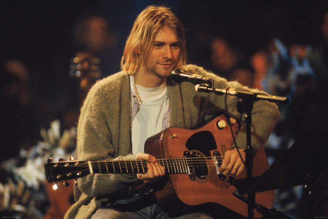 Nirvana Lead Kurt Cobain Unplugged 36 x 24 inch Music Poster