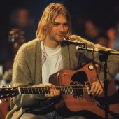 Nirvana Lead Kurt Cobain Unplugged 36 x 24 inch Music Poster