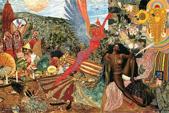 Annunciation – Santana Abraxas Album Cover by Mati Klarwein 36 X 24 inch Music Poster