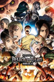 Attack on Titan Season 2 Character Collage – 24 X 36 inch Poster