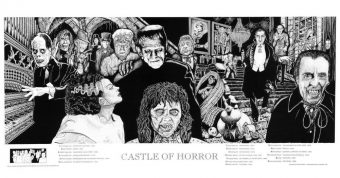 Castle of Horror Art 36 X 19 inch Movie Poster