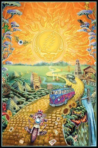Grateful Dead Golden Road 24 x 36 Rock Music Concert Poster