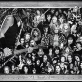 Heavy Metal Collage Art Work 36 x 24 inch Music Poster