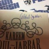 Mycroft Holmes 1st Edition signed by Kareem Abdul-Jabbar and Anna Waterhouse (Hardcover, 2015)