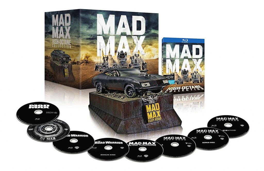 Mad Max High Octane Anthology Blu-ray 4K-UHD Collection Plus Replica Interceptor Muscle Car