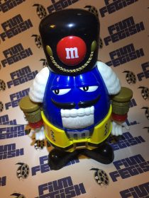 M&M's Limited Edition Nutcracker Sweet Candy Dispenser – Blue Character with Yellow Holiday Suit