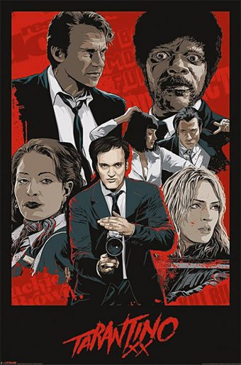 Quentin Tarantino XX 24 x 36 inch Movie Poster – Reservoir Dogs, Pulp Fiction, Jackie Brown, Kill Bill